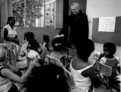 Archbishop Hanna with children