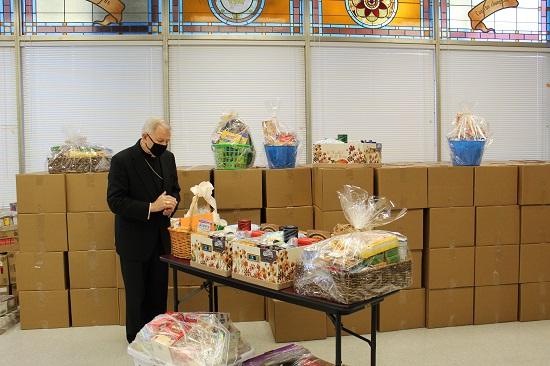 November 2020 Archbishop blesses Thanksgiving baskets