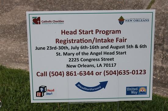 2021 Head Start Recruitment Fair sign