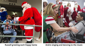 Padua residents enjoying Happy Santas