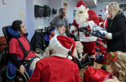 Happy Santas at Padua House 2018