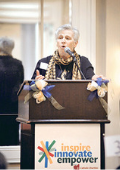 Sr. Marjorie speaking at the Convocation